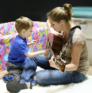 Music Therapy, helping an autistic child with communication skills
